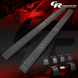 Pair Black 5 Od Side Step Nerf Bar Running Board For 09 20 Ram Truck Quad Cab