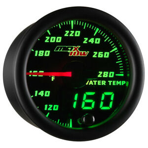 52mm Maxtow Water Temp Temperature F Gauge W Digital Led Analog Readouts