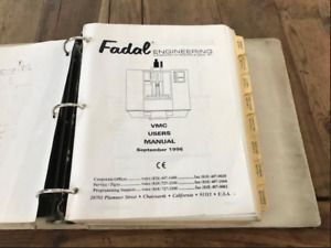 Fadal Vmc Users Programming 506 Page Vertical Machining Center Manual 1996