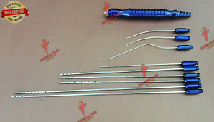Set Of 10 Liposuction Luer Lock Cannula Cosmetic And Plastic Surgery