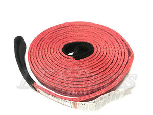 Factor 55 Tow Strap 30 Foot X 2 Inch Black Red 00074