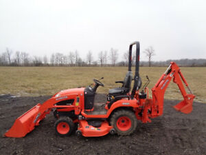 2015 Kubota Bx25d Tractor 4wd Hydro Loader Backhoe 60in Belly Mower