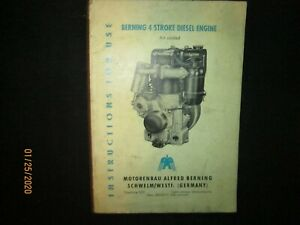 Berning 4 Stroke Air cooled Diesel Engine Operatiion Instruction Manual Original