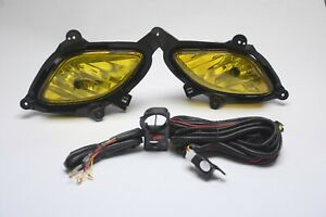 For 2010 2012 Hyundai Genesis Coupe Bumper Fog Lights W Bulb And Harness Amber