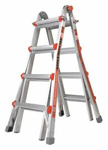 Little Giant 17 Ft Aluminum Multipurpose Ladder 375 Lb Load Capacity 46 0