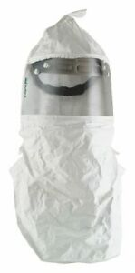 Double Bib Hood For Hard Hats White For Use With Papr Or Supplied Air
