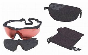 Revision Military Wraparound Anti fog Laser Safety Glasses With Amber Lenses
