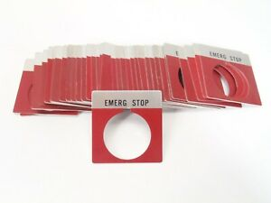 30mm emerg Stop Emergency Stop Switch Plate Lot Of 35
