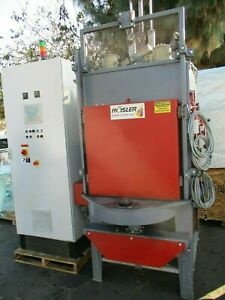 Late Fully Automatic Rosler Rwt Swing Table Fully Automatic Media Blast Machine