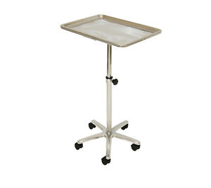Lcl Beauty Extra Large Chrome Single post Mayo Instrument Stand Work Tray