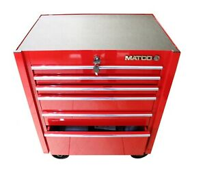New Matco 4122r Rc Single Bay Tool Box Fire Red With Chrome Trim Tool Box