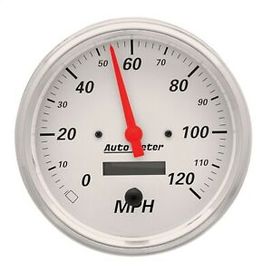 Autometer 1389 Arctic White Electric Programmable Speedometer 5 120 Mph