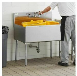 36 Commercial Utility Sink Stainless Steel 36 X 24 X 14 Bowl 16 Gauge