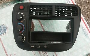 1999 2000 Honda Civic Climate Control Switch Radio Bezel Ac Heat Temp Vent A c