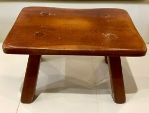 Cushman Colonial Furniture Wood Foot Stool Cricket Bennington Vermont