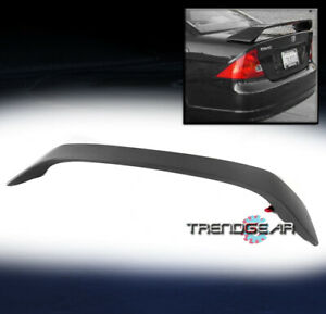 For 2001 2005 Honda Civic Coupe 2dr 2d Rear Trunk Spoiler Wing W led Brake Light