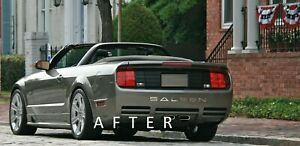 Fits Ford Mustang Saleen 2005 2009 Bumper Plastic Letters Inserts Color Chrome