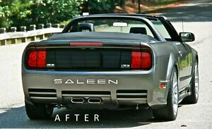 Fits Ford Mustang Saleen 2005 2009 Bumper Plastic Letters Inserts Color Aluminum