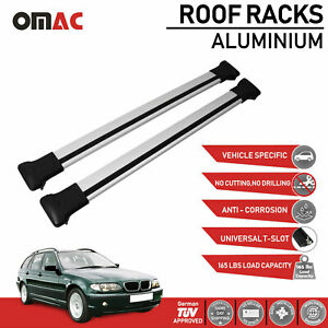Roof Rack Cross Bars Luggage Carrier Silver For Bmw 3 Series E46 Wagon 1998 2005