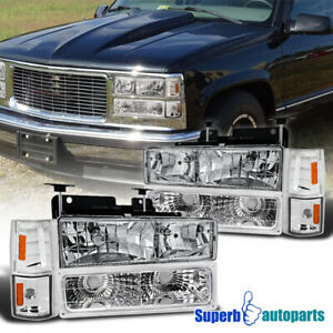 For 1994 1998 Gmc C10 Sierra Yukon Head Lights corner front Bumper bulbs