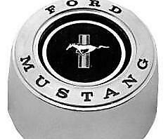 Mustang Horn Center Cap For Deluxe Woodgrain Steering Wheel 1965 1966