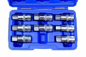 Vct 8pc 1 2 Dr Jumbo Hex Bit Socket Set Sae Metric