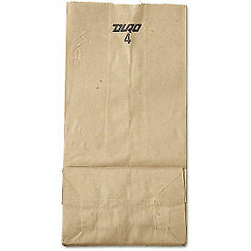 Grocery Paper Bags 5 X 3 1 3 X 9 3 4 Brown 500 Pack 81007 1 Each