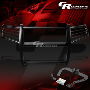 Black Mild Steel Bumper Grille grill Guard Kit For 11 16 Jeep Grand Cherokee Wk2