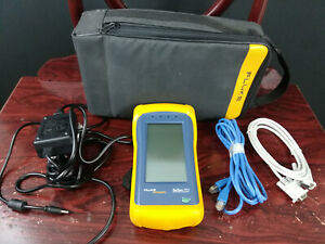 Fluke Onetouch 10 100 Network Assistant Tested Working Case Power Cord