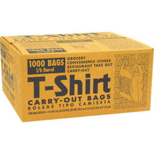 T shirt Thank You Plastic Grocery Store Shopping Carry Out Bags 1000ct