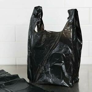 T shirt Black Plastic Grocery Store Shopping Carry Out Bags 1000ct