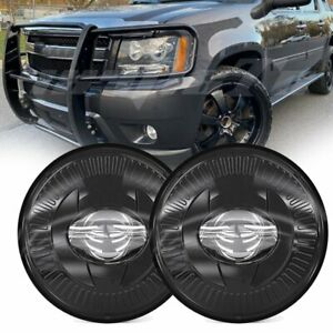 2x Round Dot Led Fog Lights Lamps Assembly Fit For Chevrolet Avalanche 2007 2015