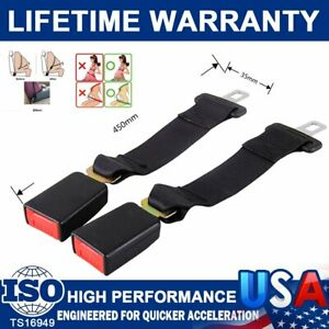 2pcs 14 Universal Car Seat Seatbelt Safety Belt Extender Extension 7 8 Buckle