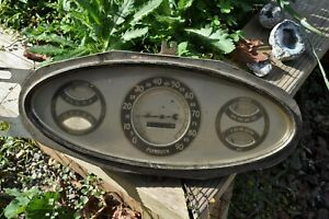 1933 Plymouth Dash Cluster Instrument Panel