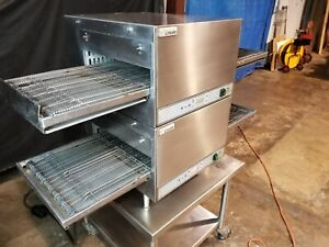 2014 Lincoln Impinger 2501 Dbl Stack Electric Conveyor Pizza Ovens video Demo