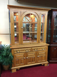 Keller Oak Lighted China Cabinet Keller Furniture Delivery Available