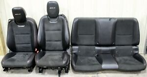2012 2015 Camaro Zl1 Black Leather Seat Set Front Rear W Red Stitching Used Gm