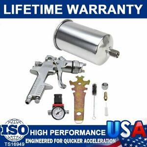 2 5mm Gravity Feed Spray Hvlp Paint Gun With Stainless Nozzle Primer Metal Flake