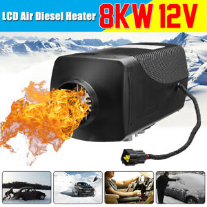Air Diesel Parking Fuel Heater 12v 8kw Lcd Switch 10l Tank For Truck Boat Van