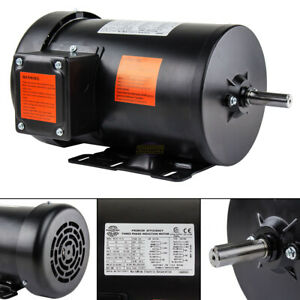 2 Hp Electric Motor 3 Phase Premium Efficiency 56h Frame 1800 Rpm Tefc 230 460 V