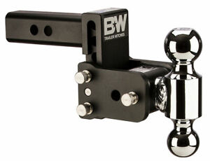 B W Tow Stow Adjustable Trailer Hitch Ball Mount Black Ts10033b
