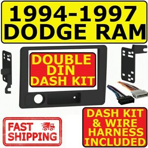 94 97 Dodge Ram Double Din Car Radio Stereo Installation Dash Kit Metra 95 6555b