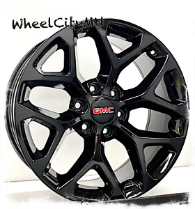 20 Inch Gloss Black 2019 Gmc Yukon Denali Oe Replica Snowflake Wheels 6x5 5 31