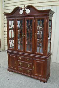 00001 Cherry 2 Piece China Cabinet Curio