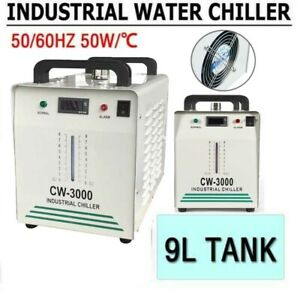 9l Cw 3000 Industrial Water Chiller 50w For Co2 Glass Laser Tube Engraver Us