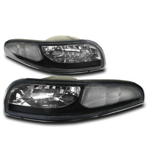 97 04 Chevy Corvette C5 Z06 Bumper Signal Parking Lights Lamps Black 00 01 02 03