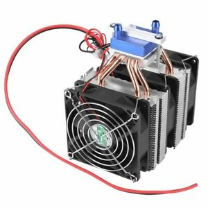 Thermoelectric Cooler Refrigeration Peltier Air Cooling Radiator System Device