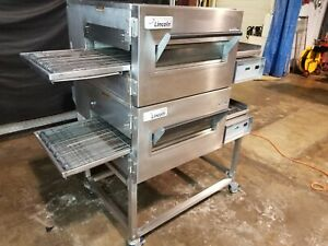 2014 Lincoln Impinger 1132 Dbl Stack Electric Conveyor Pizza Ovens video Demo
