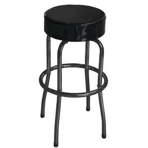 Shop Stool Heavy Duty Tubular Steel Frame Garage Workshop Adjustable Swivel Seat