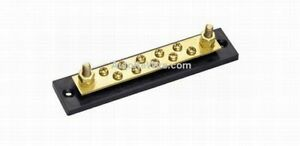 10 gang Terminal Block Grounding Strip Busbar Marine Brass Vintage Hot Rod Rat